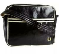 Fred Perry Classic Shoulder Bag Messenger Bag Black 100% authentic BNWT